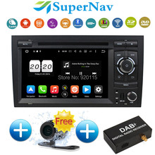 "HD 7"" Capacitive Screen 1024*600 Pixels Flash 32GB 8 Core Android 6.0.1 Car DVD For Audi A4 S4 2002-2008 With WiFi Radio DVD GPS"