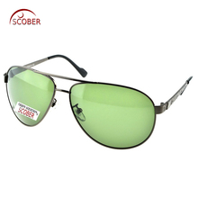 = SCOBER = Custom Made NEARSIGHTED MINUS PRESCRIPTION Large Full Rim Driving Pilot men Designer Polarized sunglasses -1 to -6