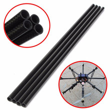 Hot New 4pcs 3K 8mm x 10mm x 500mm Roll Wrapped Carbon Fiber Tube Boom For Multicopter(China)
