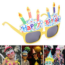 Funny Happy Birthday Glasses Decorative Ice Cream Novelty Costume Sunglasses for Birthday Gift Party Supplies Decoration