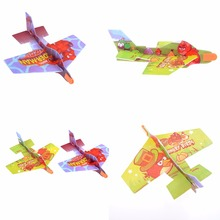 2Pcs DIY Baby Kids Mini Foam Handmade Throwing Flying Aircraft Airplane Glider Children Aeroplane Planes Puzzle Model Toys