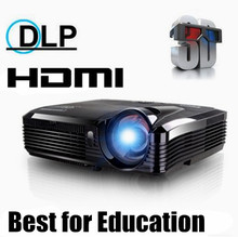 Newest ! Full HD 5500 lumens XGA DLP Short throw holographic film Projector/proyector for school education office