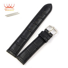 18/20/22mm Fashion PU Leather Strap Wrist Watch Band for Regular Watch Replacement Watchband Accessory Black/Brown Wavors
