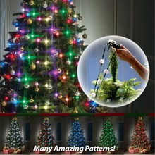 Led Bulbs Flashing Christmas Tree Dazzling Light String Lamp New Year Home Decoration For Home Festive Atmosphere(China)