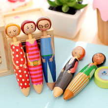 5 pcs/Lot Lovely Doll ballpoint pens for writing Canetas escolar Cute Stationery Office material school supplies papeleria F569(China)