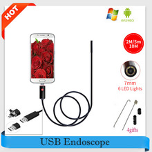 Endoscope 2M/5M/10M USB Endoscope HD Car Inspection Snake Tube 2IN1 USB Endoscopio Android 2-IN-1 Waterproof Micro USB Endoskope