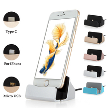 For Samsung Galaxy S8 S8 Plus USB Charging Dock Station Stand Desktop Charger Dock For iPhone 7 6s 6s plus Micro USB Type C