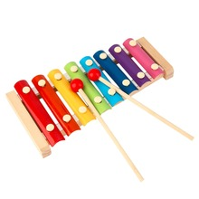 Hot! Hand Knock Wood Piano Kids Toy Colorful 8 Different Tones Music Rhythm Learnin In Advance for Preschoolers(China)