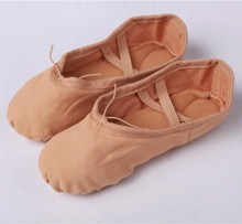 2017 Canvas Soft Ballet Dance Shoe For Women Split Cow Leather Outsoles Gym Yoga Dancesport Shoes Girls Toe Dance Slippers(China)