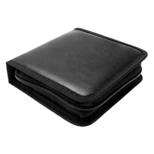CES-Portable Rectangle CD Carrying Storage Case Bag Holder Black