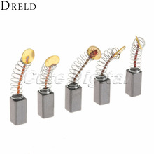 10pcs/5 Pairs Mini Drill Electric Grinder Replacement Carbon Brushes Spare Parts for Electric Motors Dremel Rotary Tool 5x5 x9mm