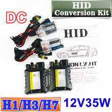 XENON DC HID Conversion Kit 12V 35W H1 H3 H7 Lamp Slim Ballast Car Headlight Bulb 4300K 6000K 8000K 30000K FREE SHIPPING