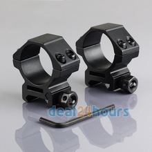 2PCS 30mm Weaver Scope Mount Rings Low Profile Picatinny Rail Mount Rings Free Shipping