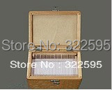free shipping wooden slide box slides storage box 50pcs slides in<br>