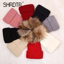 Hot winter children's hat solid color wool male and female baby warm hat Skullies Beanies manufacturers wholesale Knitted hat(China)