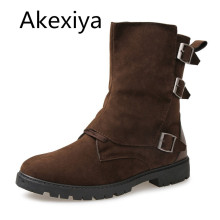Akexiya Hot New Side Zipper Leather Boot Men Fashion Trends Business Men's High Quality Work Boots Martin Boot Mens Shoes