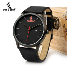 BOBO BIRD WG15 Retro Round Wrist Watch Mens Watches Top Brand Luxury Watches With Calendar Display In Gift Box Accept OEM(China)