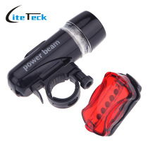 Waterproof Ultra Bright 5 LED Cycling Bicycle Light Set Bike Front Head Light  + 5 LED Rear Safety Flashlight Tail light Lamp