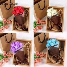 7Pcs Scented Rose Flower Petal Bath Body Soap Wedding Party favor Gift petal with soap Wonderful Decoration