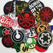 aonepatch 24PC MIXED RANDOM A variety of designs Iron On Patches DIY Garment Accessories Sew Cute Patch Fabric Badge(China)