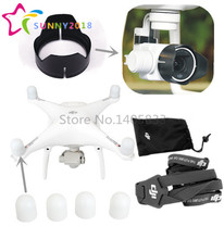DJI Phantom 4 Phantom 3 Camera Lens Sun Hood Cap + Motor guards + Lanyard Neck strap