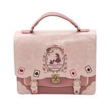 Japan Bag Lolita Style Women Lady Girls Alice in Wonderland Designer Embroidery Handbag Messenger Bag School Bag(China)