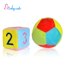 Baby Plush Rattles & Mobiles Toys Stroller Soft Infant Toys Bell Ring Cube Colorful Ball Jouet For 0-12 Months Kids Toys