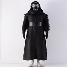 Star Wars :The Force Awakens Kylo Ren Cosplay Costumes Adult Uniform ( Robe+ Hooded Cape+Mask+Belt+Gloves) CS1343000(China)