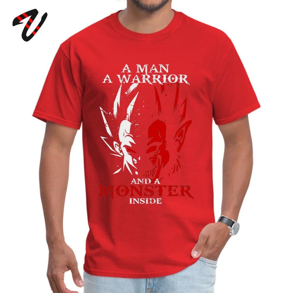 Normal 2018 Popular Student T Shirt Round Collar Short Sleeve 100% Cotton T Shirt Design T Shirt Top Quality Funny Dragonball z Goku and Vegeta Tshirt - Monster Ape Saiyan Dragon Ball  -10904 red