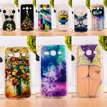 DIY Painted Soft TPU & Hard Plastic Phone Case For Samsung Galaxy Star Advance G350E Phone Cover Anti-Knock Function Phone Bags