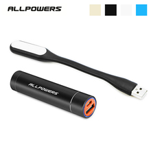 ALLPOWERS 3400mAh Mini Portable Power Bank Universal External Battery Charger Pack
