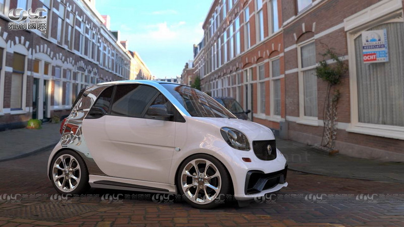 2015-2017 Smart Fortwo C453 & Forfour W453 AMG Style Body Kit FRP (5)