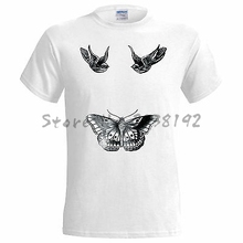 Harry Styles Tattoo Inspired Mens T Shirt 1D One Direction Swag Fresh High men's top tees