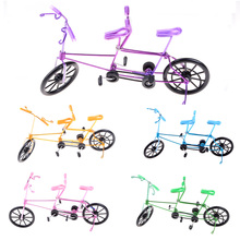 Two-seater Bicycle Finger Bikes Creative wrought iron handicrafts souvenirs crafts tandem Bicycle Model 5 colors(China)