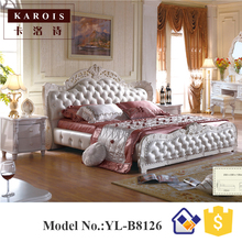Purple diamond bedroom furniture Antique king size bed design B8126(China)