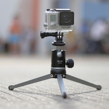 XILETU Aluminum Alloy Metal Mini Table Top Tripod with Ballhead, Portable Desktop Macro Tripod for Gopro Sony DSLR Camera DV