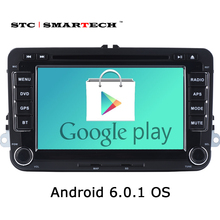 2 Din Car PC Tablet Audio Video Player for VW Series 7 inch Android 6.0.1 OS Quad-Core with OBD Radio GPS Navigation Mirror Link