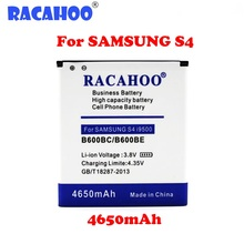 RACAHOO B600BC / B600BE 1Pcs 3.8V 4650mAh Cell Phone Battery For Samsung Galaxy S4 i9500 i9502 i9505 i9508 i9515 Grand 2