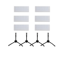 4x Side Brush +6x Hepa Filter Ilife A4S/A4/T4/X430/X432/x431 Ilife A6/x620/x623 Robot Vacuum Cleaner Parts Filters Brushes