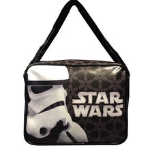 2017 New Men Shoulder Bags PU Leather Movie StarWar Star Wars Print Messenger Bag Gift for Young Students School Bags Cool Purse(China)