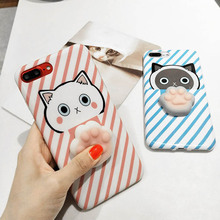 3D Squish Cat Case for iPhone 6 6S 7 7 Plus Funny Poke Animal Thin Girly Phone Cases for iPhone 7 7 Plus 6 6S Plus Squishy Coque(China)
