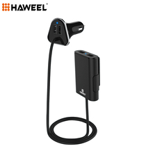 Haweel Car Charging Max 4 Ports USB Extending USB HUB Passenger Front and Backseat Car Phone Charger For iPhone 6 7 For Samsung(China)