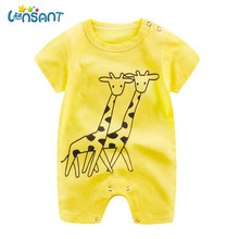 LONSANT 2017 Baby Summer Jumpsuit Unisex Baby Body Clothes Overall Short Sleeve Rompers High Quality Cotton Roupas Dropshipping(China)