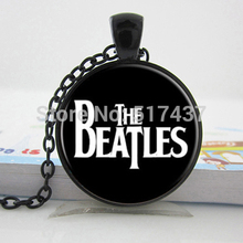 HZ--A211 The Beatles Necklace,,Glass Picture Pendant, Music Pendant Band Jewelry,Glass Cabochon Necklace