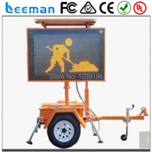 Leeman Australian standard solar traffic LED trailer signs VMS Mobile LED VMS 2600*1600mm Aluminum & Steel Trailer Structure