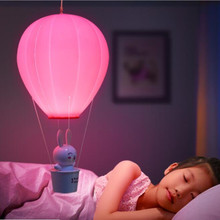Kids Best Gift Balloon Design Hot Air Hanging Lamp Night Lights Remote & Touch Options Night Light Pendant Lamp for Kids Bedroom
