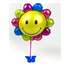XXPWJ Free shipping mini sunflowers aluminum balloons decorated children's birthday party balloon toy wholesale