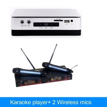 China HDD  karaoke player machine With 2TB hard driver include 42k songs  plus  wireless microphone karaoke system