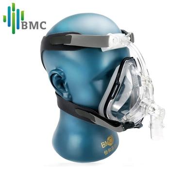 BMC FM1 Full Face Mask Медицинская рото-носовая маска силиконовогогели для терапии храпа с размером S/M/L и держатель бесплатная перевозка