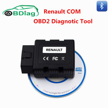 Bluetooth Renault COM OBD2 OBDII Diagnostic Interface Update Of Renault Can Clip Support EPF ,EGR Airbag Programming OBD Tool(China)